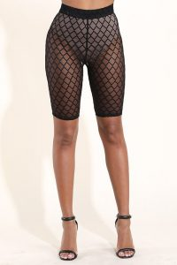 Diamond Mesh Biker Shorts